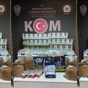 Kırıkkale'de Kaçak Tütün ve Çay Operasyonu